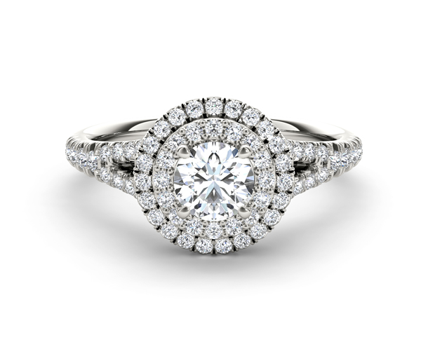 1 Carat Round Halo Diamond Ring